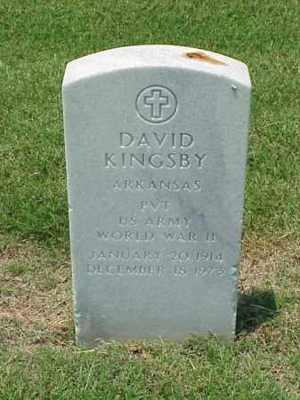 KINGSBY (VETERAN WWII), DAVID - Pulaski County, Arkansas | DAVID KINGSBY (VETERAN WWII) - Arkansas Gravestone Photos