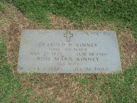 KINNEY (VETERAN 3 WARS), GEAROLD W - Pulaski County, Arkansas | GEAROLD W KINNEY (VETERAN 3 WARS) - Arkansas Gravestone Photos