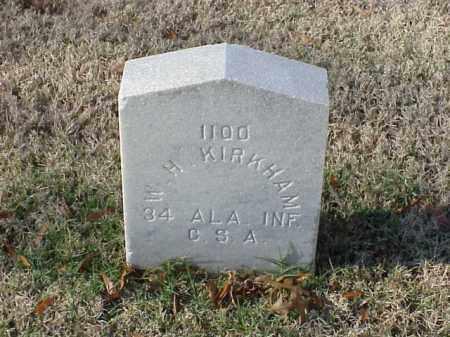 KIRKHAM (VETERAN CSA), W H - Pulaski County, Arkansas | W H KIRKHAM (VETERAN CSA) - Arkansas Gravestone Photos