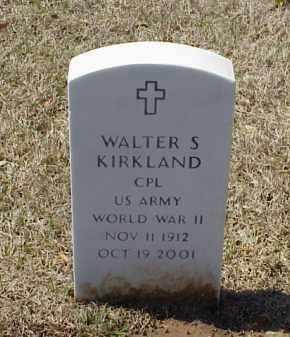 KIRKLAND (VETERAN WWII), WALTER S - Pulaski County, Arkansas | WALTER S KIRKLAND (VETERAN WWII) - Arkansas Gravestone Photos