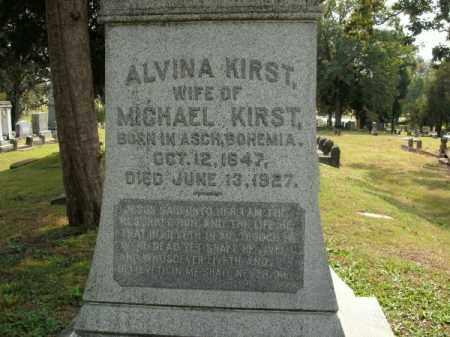 KIRST, ALVINA - Pulaski County, Arkansas | ALVINA KIRST - Arkansas Gravestone Photos