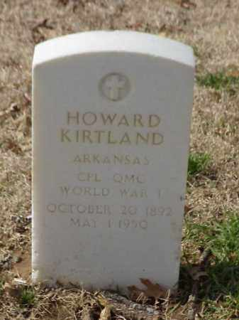 KIRTLAND (VETERAN WWI), HOWARD - Pulaski County, Arkansas | HOWARD KIRTLAND (VETERAN WWI) - Arkansas Gravestone Photos