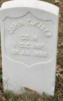 KISER  (VETERAN SAW), JOHN T. - Pulaski County, Arkansas | JOHN T. KISER  (VETERAN SAW) - Arkansas Gravestone Photos