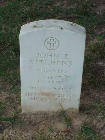 KITCHENS (VETERAN WWII), JOHN Z - Pulaski County, Arkansas   JOHN Z KITCHENS (VETERAN WWII) - Arkansas Gravestone Photos