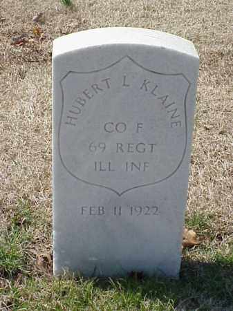 KLAINE (VETERAN UNION), HUBERT L - Pulaski County, Arkansas | HUBERT L KLAINE (VETERAN UNION) - Arkansas Gravestone Photos
