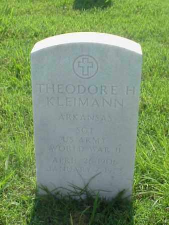KLEIMANN (VETERAN WWII), THEODORE H - Pulaski County, Arkansas | THEODORE H KLEIMANN (VETERAN WWII) - Arkansas Gravestone Photos