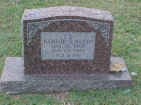 KLEIN, FANNIE S - Pulaski County, Arkansas | FANNIE S KLEIN - Arkansas Gravestone Photos
