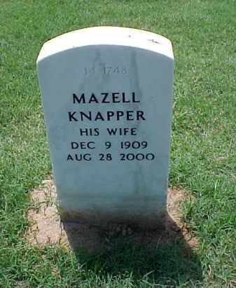 KNAPPER, MAZELL - Pulaski County, Arkansas | MAZELL KNAPPER - Arkansas Gravestone Photos