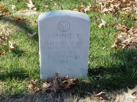 KNIER, MINNIE Y - Pulaski County, Arkansas | MINNIE Y KNIER - Arkansas Gravestone Photos