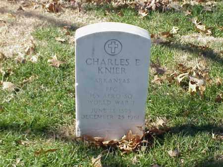 KNIER (VETERAN WWI), CHARLES E - Pulaski County, Arkansas | CHARLES E KNIER (VETERAN WWI) - Arkansas Gravestone Photos