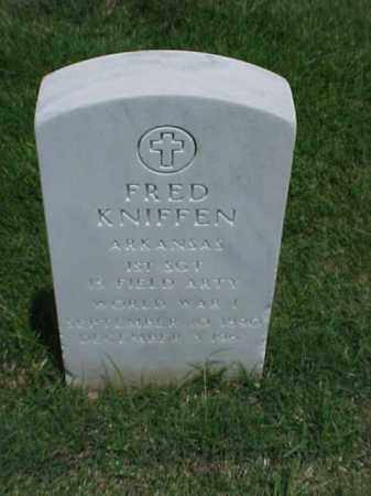 KNIFFEN (VETERAN WWI), FRED - Pulaski County, Arkansas | FRED KNIFFEN (VETERAN WWI) - Arkansas Gravestone Photos
