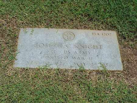 KNIGHT (VETERAN WWII), JOSEPH C - Pulaski County, Arkansas | JOSEPH C KNIGHT (VETERAN WWII) - Arkansas Gravestone Photos