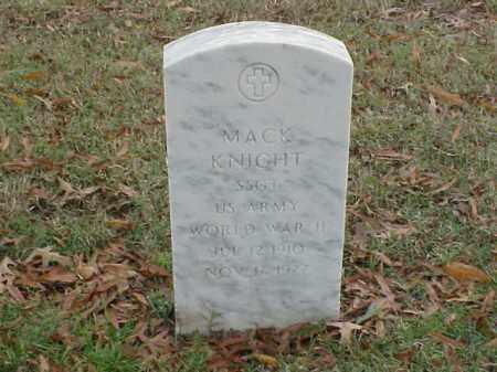 KNIGHT (VETERAN WWII), MACK - Pulaski County, Arkansas | MACK KNIGHT (VETERAN WWII) - Arkansas Gravestone Photos