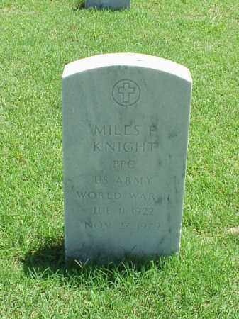 KNIGHT (VETERAN WWII), MILES F - Pulaski County, Arkansas | MILES F KNIGHT (VETERAN WWII) - Arkansas Gravestone Photos