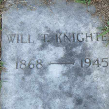 KNIGHTE, WILL  T. - Pulaski County, Arkansas | WILL  T. KNIGHTE - Arkansas Gravestone Photos