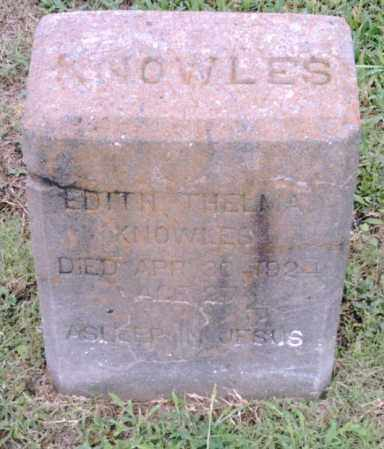 KNOWLES, EDITH THELMA - Pulaski County, Arkansas | EDITH THELMA KNOWLES - Arkansas Gravestone Photos