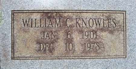 KNOWLES (ORIGINAL STONE 1), WILLIAM C. - Pulaski County, Arkansas | WILLIAM C. KNOWLES (ORIGINAL STONE 1) - Arkansas Gravestone Photos