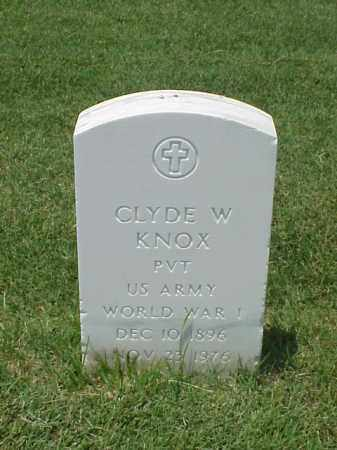KNOX (VETERAN WWI), CLYDE W - Pulaski County, Arkansas | CLYDE W KNOX (VETERAN WWI) - Arkansas Gravestone Photos