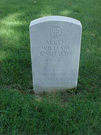 KNUTSON (VETERAN WWII), ALLEN WILLIAM - Pulaski County, Arkansas | ALLEN WILLIAM KNUTSON (VETERAN WWII) - Arkansas Gravestone Photos