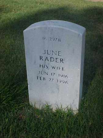 KOCINSKI, JUNE RADER - Pulaski County, Arkansas | JUNE RADER KOCINSKI - Arkansas Gravestone Photos