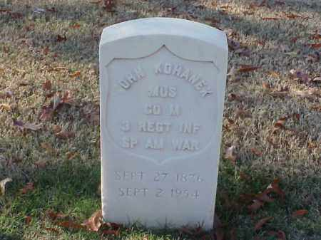 KOHANEK (VETERAN SAW), JOHN - Pulaski County, Arkansas | JOHN KOHANEK (VETERAN SAW) - Arkansas Gravestone Photos