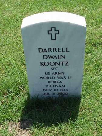 KOONTZ (VETERAN 3 WARS), DARRELL DWAIN - Pulaski County, Arkansas | DARRELL DWAIN KOONTZ (VETERAN 3 WARS) - Arkansas Gravestone Photos