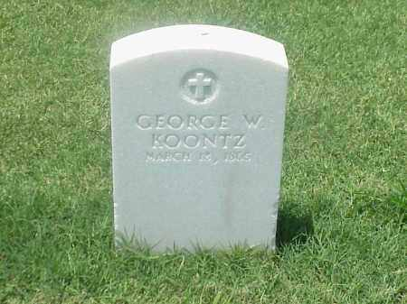 KOONTZ (VETERAN UNION), GEORGE W - Pulaski County, Arkansas | GEORGE W KOONTZ (VETERAN UNION) - Arkansas Gravestone Photos