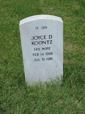 KOOONTZ, JOYCE D - Pulaski County, Arkansas | JOYCE D KOOONTZ - Arkansas Gravestone Photos