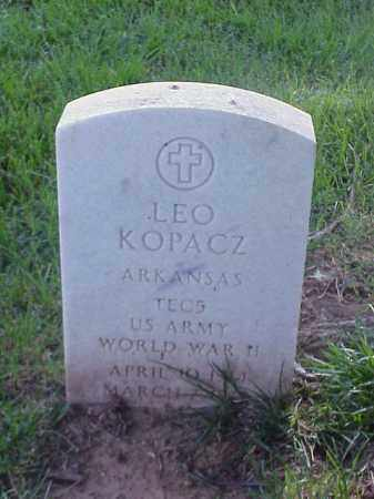 KOPACZ (VETERAN WWII), LEO - Pulaski County, Arkansas | LEO KOPACZ (VETERAN WWII) - Arkansas Gravestone Photos