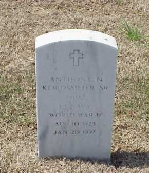 KORDSMEIER, SR (VETERAN WWII), ANTHONY N - Pulaski County, Arkansas | ANTHONY N KORDSMEIER, SR (VETERAN WWII) - Arkansas Gravestone Photos