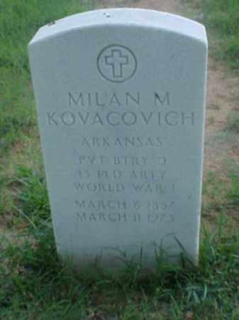 KOVACOVICH (VETERAN WWI), MILAN M - Pulaski County, Arkansas | MILAN M KOVACOVICH (VETERAN WWI) - Arkansas Gravestone Photos