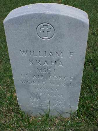 KRAHA (VETERAN 3 WARS), WILLIAM F - Pulaski County, Arkansas | WILLIAM F KRAHA (VETERAN 3 WARS) - Arkansas Gravestone Photos