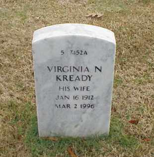 KREADY, VIRGINIA N - Pulaski County, Arkansas | VIRGINIA N KREADY - Arkansas Gravestone Photos