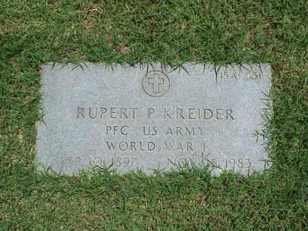 KREIDER (VETERAN WWI), RUPERT P - Pulaski County, Arkansas | RUPERT P KREIDER (VETERAN WWI) - Arkansas Gravestone Photos