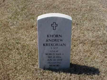 KREKORIAN (VETERAN WWII), KHORN ANDREW - Pulaski County, Arkansas | KHORN ANDREW KREKORIAN (VETERAN WWII) - Arkansas Gravestone Photos