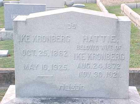 KRONBERG, HATTIE - Pulaski County, Arkansas | HATTIE KRONBERG - Arkansas Gravestone Photos