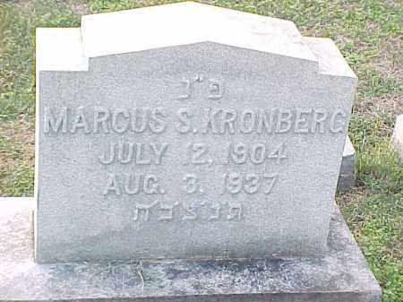 KRONBERG, MARCUS - Pulaski County, Arkansas | MARCUS KRONBERG - Arkansas Gravestone Photos