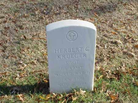 KRUEGER (VETERAN WWII), HERBERT C - Pulaski County, Arkansas | HERBERT C KRUEGER (VETERAN WWII) - Arkansas Gravestone Photos