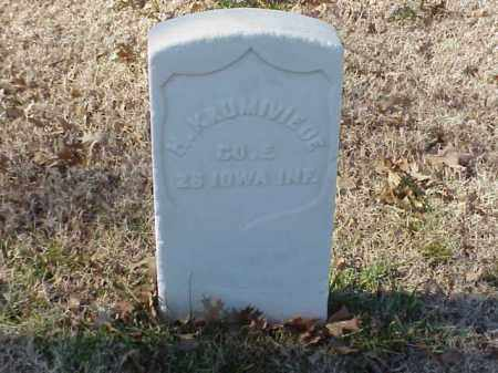 KRUMIVIEDE (VETERAN UNION), HEINRICH - Pulaski County, Arkansas | HEINRICH KRUMIVIEDE (VETERAN UNION) - Arkansas Gravestone Photos