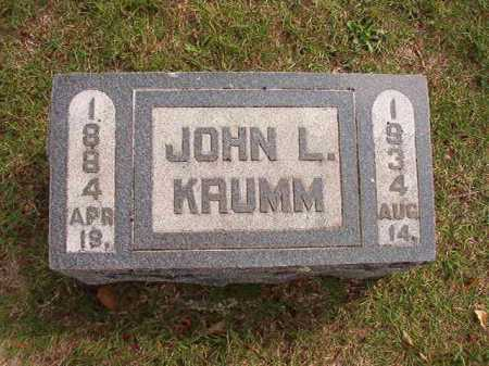 KRUMM, JOHN L - Pulaski County, Arkansas | JOHN L KRUMM - Arkansas Gravestone Photos