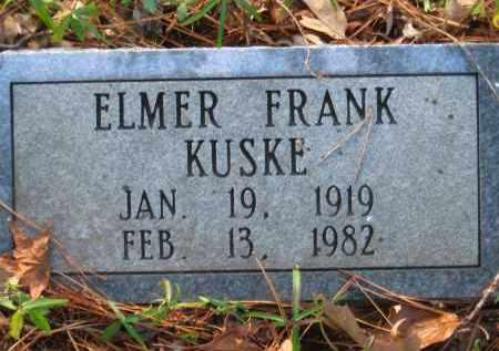 KUSKE, ELMER FRANK - Pulaski County, Arkansas | ELMER FRANK KUSKE - Arkansas Gravestone Photos