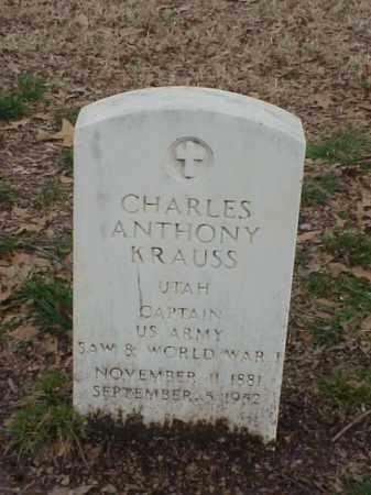 KRUSS (VETERAN 2 WARS), CHARLES ANTHONY - Pulaski County, Arkansas | CHARLES ANTHONY KRUSS (VETERAN 2 WARS) - Arkansas Gravestone Photos