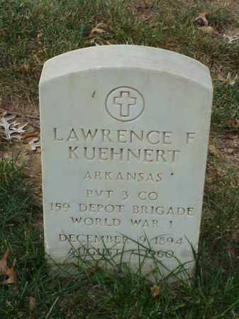 KUEHNERT (VETERAN WWI), LAWRENCE F - Pulaski County, Arkansas | LAWRENCE F KUEHNERT (VETERAN WWI) - Arkansas Gravestone Photos