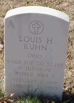 KUHN  (VETERAN WWI), LOUIS H - Pulaski County, Arkansas | LOUIS H KUHN  (VETERAN WWI) - Arkansas Gravestone Photos