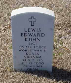 KUHN (VETERAN 3 WARS), LEWIS EDWARD - Pulaski County, Arkansas | LEWIS EDWARD KUHN (VETERAN 3 WARS) - Arkansas Gravestone Photos