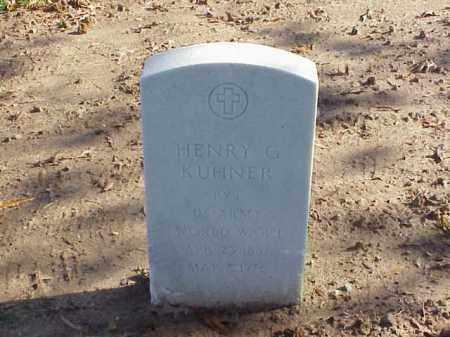 KUHNER (VETERAN WWI), HENRY G - Pulaski County, Arkansas | HENRY G KUHNER (VETERAN WWI) - Arkansas Gravestone Photos
