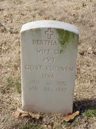 KUONEN, BERTHA W - Pulaski County, Arkansas | BERTHA W KUONEN - Arkansas Gravestone Photos