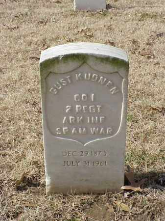 KUONEN (VETERAN SAW), GUST - Pulaski County, Arkansas | GUST KUONEN (VETERAN SAW) - Arkansas Gravestone Photos