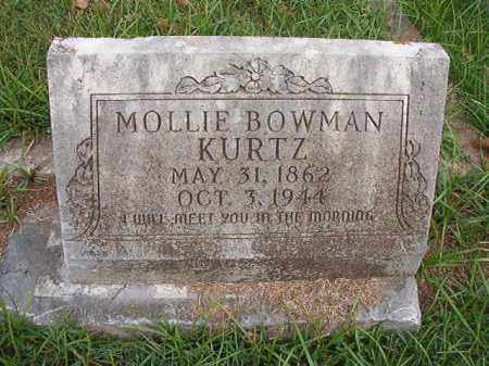 BOWMAN KURTZ, MOLLIE - Pulaski County, Arkansas | MOLLIE BOWMAN KURTZ - Arkansas Gravestone Photos