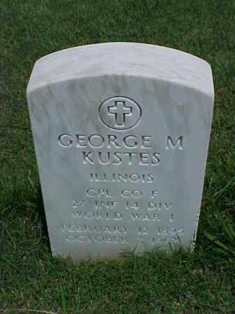 KUSTES (VETERAN WWI), GEORGE M - Pulaski County, Arkansas | GEORGE M KUSTES (VETERAN WWI) - Arkansas Gravestone Photos